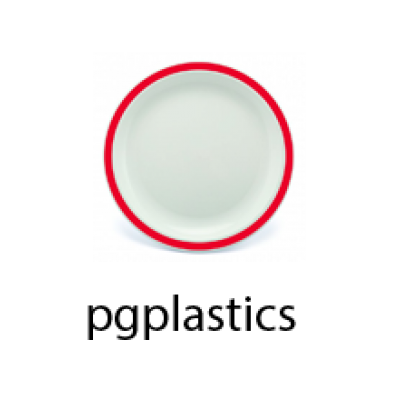 PLASTIC BORD ROOD 17cm (PC) Onbreekbaar Harfield - 50 st/ds