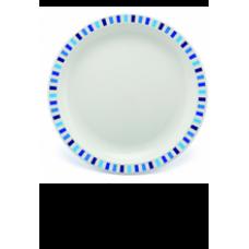 PLASTIC BORD BLAUW GESTREEPT 23cm (PC) Onbreekbaar Harfield - 50 st/ds