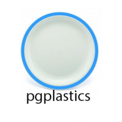 PLASTIC BORD BLAUW 23cm (PC) Onbreekbaar Harfield - 50 st/ds