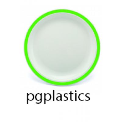 PLASTIC BORD GROEN 25.5cm (PC) Onbreekbaar Harfield - 50 st/ds