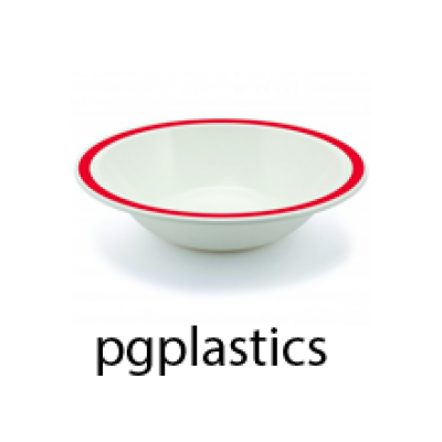 PLASTIC BORD KOMMETJE ROOD 40cl (PC) Onbreekbaar Harfield - 50 st/ds