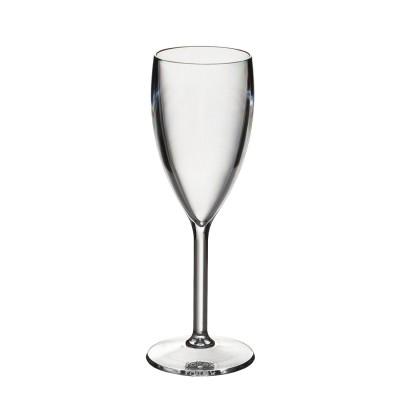 50x Plastic Champagneglazen 10cl Onbreekbaar