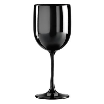 24x Zwarte Plastic Wijnglazen 48cl Onbreekbaar Tropic