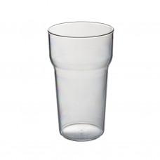 105x Plastic Bierglazen Tulp 28cl Onbreekbaar