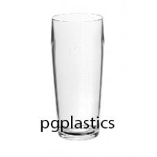 PLASTIC BIERGLAS, Fluitje, 22cl (PC) Onbreekbaar BAR Roltex - 50 st/ds