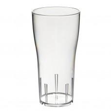 54x Plastic Bierglazen Halve Liter Tulp Onbreekbaar