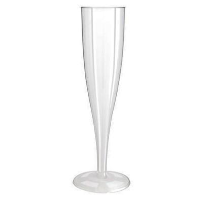 200 x Plastic Champagneglazen 1-Delig 0.1L (PS)