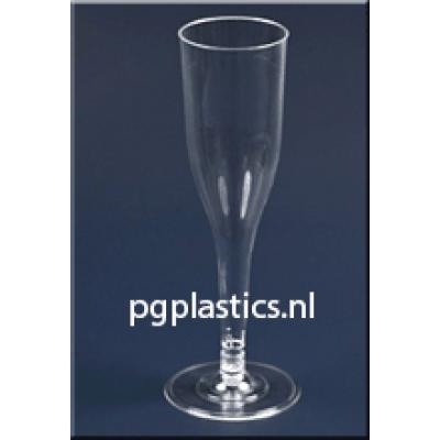 480 x PLASTIC CHAMPAGNEGLAZEN 2-Delig 0.1L (PS)