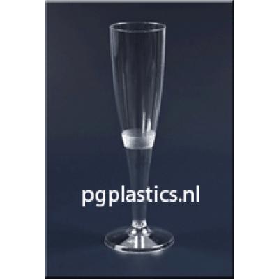 200 x Plastic Champagneglazen 1-Delig 0.15L (PS)