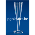 160 Plastic Champagneglazen 1-Delig 0.075L (PS)
