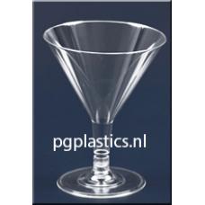 240 x PLASTIC COCKTAILGLAS 2-Delig 0.1L (PS)