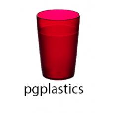 PLASTIC BEKER JUNIOR ROOD 25cl (PC) Onbreekbaar FROST - 150 st/ds