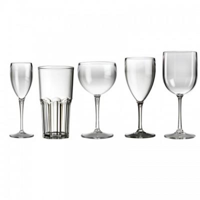 50x Plastic Glazen Glashelder Onbreekbaar Lounge