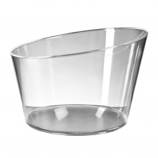 1x Plastic Ijsemmer Large Transparant