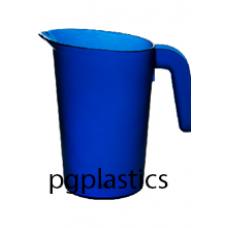 PLASTIC KARAF / PITCHER 0.5L BLAUW (PC) Onbreekbaar FROST - 40 st/ds