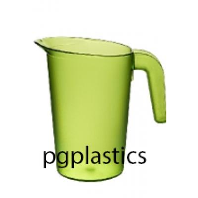 PLASTIC KARAF / PITCHER 1L GEEL (PC) Onbreekbaar FROST - 24 st/ds