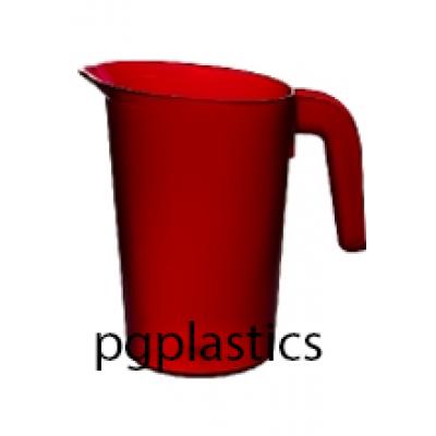 PLASTIC KARAF / PITCHER 1L ROOD (PC) Onbreekbaar FROST - 24 st/ds