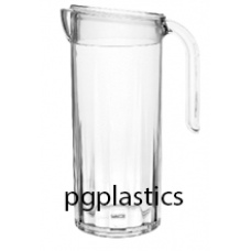 PLASTIC KARAF, PITCHER & Deksel 1.25L (PC) Onbreekbaar STAR - 10 st/ds