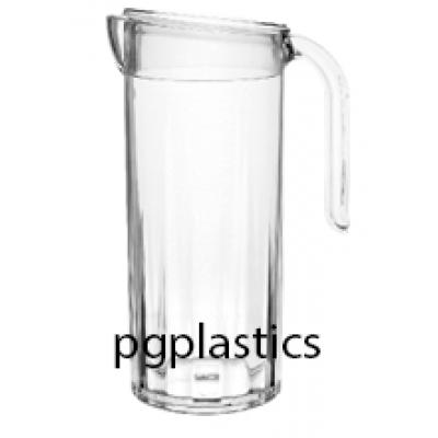 PLASTIC KARAF, PITCHER & Deksel 1.25L (PC) Onbreekbaar STAR - 10 st/ds