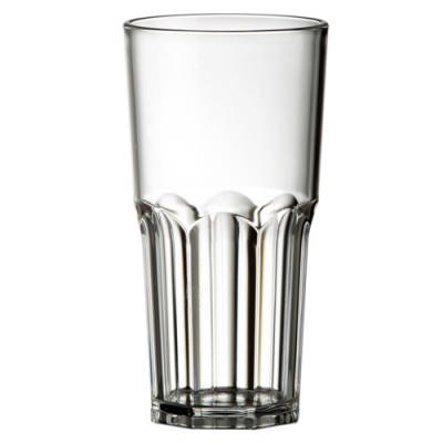 25x Plastic Longdrinkglazen 30cl Glashelder Tropic