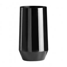 12x Zwarte Plastic Longdrinkglazen 40cl Tropic