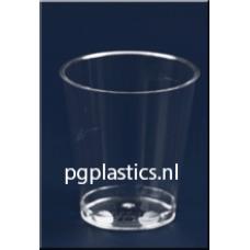 1000 x PLASTIC SHOTGLAZEN / BORRELGLAASJES 3CL (PS)