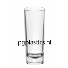 PLASTIC SHOTGLAS 60ml (PC) Onbreekbaar Tao Roltex - 50 st/ds