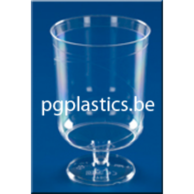 250 x Plastic Wijnglas 1-Delig 0.20L