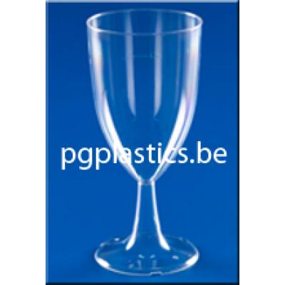 120 x Plastic Wijnglas 1-Delig 0.20L LUXE