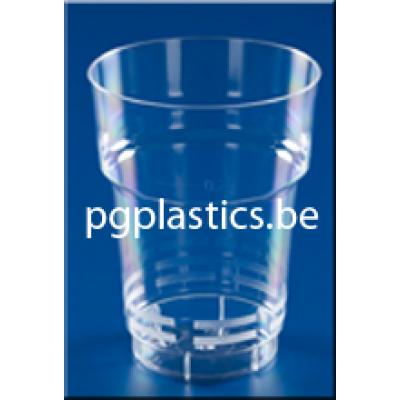 PLASTIC BIERBEKER DUTCH 250 ml (PS)  - 805st/ds